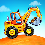 Download Truck games for kids - build a house, car wash APK